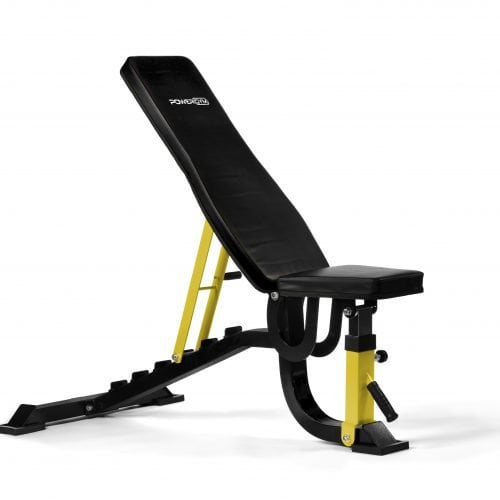 PowerGym Fitness Adjustable Bench in Yellow Option